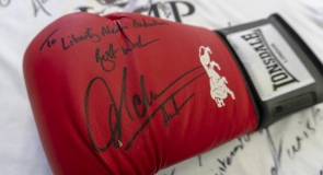 British boxer, Amir Khan's signed boxing glove memorabilia to LMP