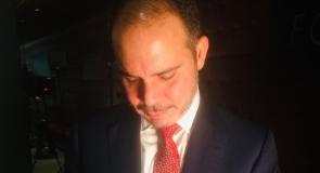 HRH Prince Ali bin Hussein of Jordan signing a football memorabilia to LMP