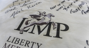 Adel Karam's & Rory McLeod's signature on LMP t-shirt