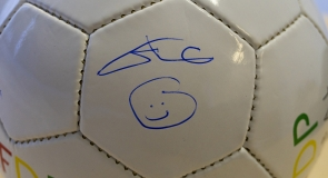 HRH Prince Ali bin Hussein's signature on a football memorabilia to LMP