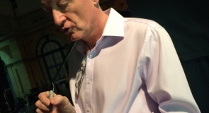 Snooker legend, Steve Davis signing a snooker ball memorabilia to LMP