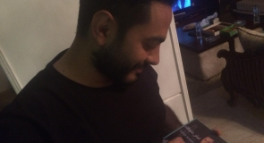 Egyptian pop singer, Tamer Hosny signing his new album memorabilia to LMP